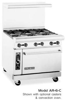 Restaurant Range 36 Inch From American Range 6 Burners Item Ar 6